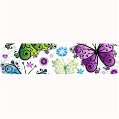 Butterfly Animals Fly Purple Green Blue Polkadot Flower Floral Star Large Bar Mats by Mariart
