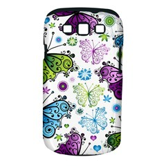 Butterfly Animals Fly Purple Green Blue Polkadot Flower Floral Star Samsung Galaxy S Iii Classic Hardshell Case (pc+silicone) by Mariart