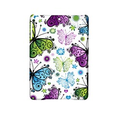 Butterfly Animals Fly Purple Green Blue Polkadot Flower Floral Star Ipad Mini 2 Hardshell Cases by Mariart