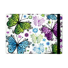 Butterfly Animals Fly Purple Green Blue Polkadot Flower Floral Star Ipad Mini 2 Flip Cases by Mariart
