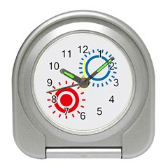 Color Light Effect Control Mode Circle Red Blue Travel Alarm Clocks by Mariart