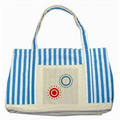 Color Light Effect Control Mode Circle Red Blue Striped Blue Tote Bag by Mariart