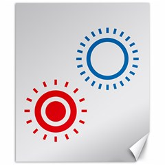 Color Light Effect Control Mode Circle Red Blue Canvas 8  X 10  by Mariart