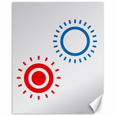 Color Light Effect Control Mode Circle Red Blue Canvas 16  X 20   by Mariart