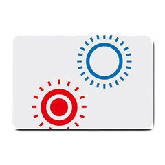Color Light Effect Control Mode Circle Red Blue Small Doormat  by Mariart