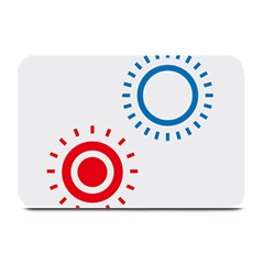 Color Light Effect Control Mode Circle Red Blue Plate Mats