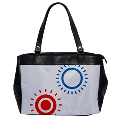 Color Light Effect Control Mode Circle Red Blue Office Handbags by Mariart