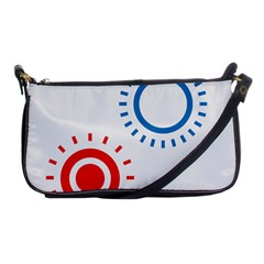 Color Light Effect Control Mode Circle Red Blue Shoulder Clutch Bags by Mariart