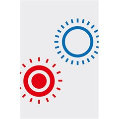 Color Light Effect Control Mode Circle Red Blue 5 5  X 8 5  Notebooks by Mariart