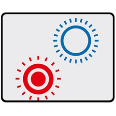 Color Light Effect Control Mode Circle Red Blue Fleece Blanket (medium)  by Mariart