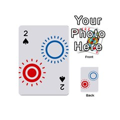 Color Light Effect Control Mode Circle Red Blue Playing Cards 54 (mini)  by Mariart