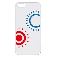 Color Light Effect Control Mode Circle Red Blue Apple Iphone 5 Seamless Case (white) by Mariart