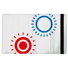 Color Light Effect Control Mode Circle Red Blue Apple Ipad 2 Flip Case by Mariart