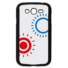 Color Light Effect Control Mode Circle Red Blue Samsung Galaxy Grand Duos I9082 Case (black) by Mariart