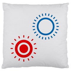 Color Light Effect Control Mode Circle Red Blue Large Flano Cushion Case (two Sides) by Mariart