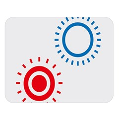 Color Light Effect Control Mode Circle Red Blue Double Sided Flano Blanket (large)