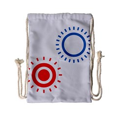 Color Light Effect Control Mode Circle Red Blue Drawstring Bag (small) by Mariart