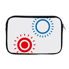 Color Light Effect Control Mode Circle Red Blue Apple Macbook Pro 17  Zipper Case