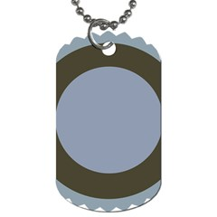 Circle Round Grey Blue Dog Tag (two Sides) by Mariart