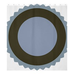 Circle Round Grey Blue Shower Curtain 66  X 72  (large)  by Mariart