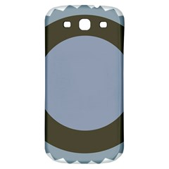 Circle Round Grey Blue Samsung Galaxy S3 S Iii Classic Hardshell Back Case by Mariart