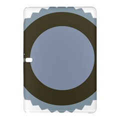 Circle Round Grey Blue Samsung Galaxy Tab Pro 12 2 Hardshell Case by Mariart