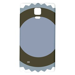 Circle Round Grey Blue Galaxy Note 4 Back Case by Mariart