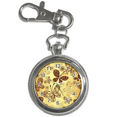 Butterfly Animals Fly Purple Gold Polkadot Flower Floral Star Sunflower Key Chain Watches by Mariart