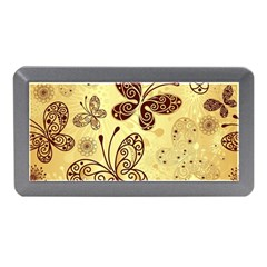 Butterfly Animals Fly Purple Gold Polkadot Flower Floral Star Sunflower Memory Card Reader (mini) by Mariart