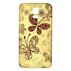 Butterfly Animals Fly Purple Gold Polkadot Flower Floral Star Sunflower Samsung Galaxy S5 Back Case (white) by Mariart
