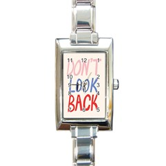 Don t Look Back Big Eye Pink Red Blue Sexy Rectangle Italian Charm Watch by Mariart