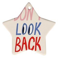 Don t Look Back Big Eye Pink Red Blue Sexy Ornament (star)