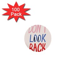 Don t Look Back Big Eye Pink Red Blue Sexy 1  Mini Buttons (100 Pack)  by Mariart