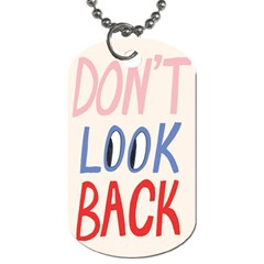 Don t Look Back Big Eye Pink Red Blue Sexy Dog Tag (two Sides) by Mariart