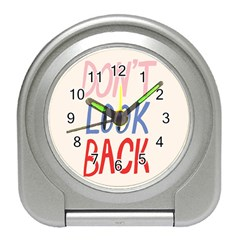 Don t Look Back Big Eye Pink Red Blue Sexy Travel Alarm Clocks by Mariart
