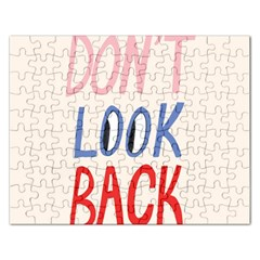 Don t Look Back Big Eye Pink Red Blue Sexy Rectangular Jigsaw Puzzl