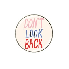 Don t Look Back Big Eye Pink Red Blue Sexy Hat Clip Ball Marker by Mariart
