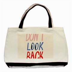 Don t Look Back Big Eye Pink Red Blue Sexy Basic Tote Bag (two Sides) by Mariart