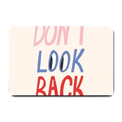 Don t Look Back Big Eye Pink Red Blue Sexy Small Doormat  by Mariart