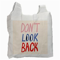 Don t Look Back Big Eye Pink Red Blue Sexy Recycle Bag (one Side) by Mariart
