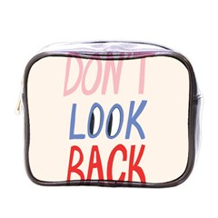 Don t Look Back Big Eye Pink Red Blue Sexy Mini Toiletries Bags by Mariart