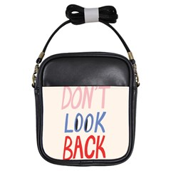 Don t Look Back Big Eye Pink Red Blue Sexy Girls Sling Bags by Mariart