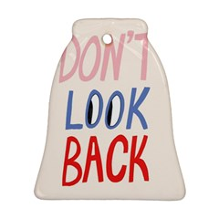 Don t Look Back Big Eye Pink Red Blue Sexy Bell Ornament (two Sides) by Mariart