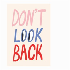 Don t Look Back Big Eye Pink Red Blue Sexy Small Garden Flag (two Sides) by Mariart