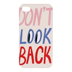 Don t Look Back Big Eye Pink Red Blue Sexy Apple Iphone 4/4s Premium Hardshell Case by Mariart