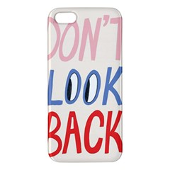 Don t Look Back Big Eye Pink Red Blue Sexy Apple Iphone 5 Premium Hardshell Case by Mariart