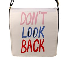 Don t Look Back Big Eye Pink Red Blue Sexy Flap Messenger Bag (l)  by Mariart