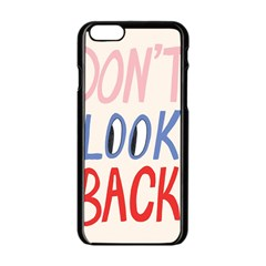 Don t Look Back Big Eye Pink Red Blue Sexy Apple Iphone 6/6s Black Enamel Case by Mariart