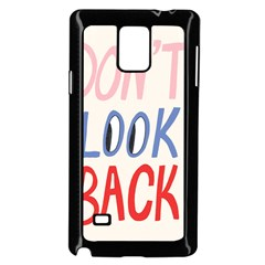 Don t Look Back Big Eye Pink Red Blue Sexy Samsung Galaxy Note 4 Case (black) by Mariart