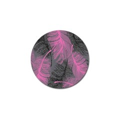 Feathers Quill Pink Grey Golf Ball Marker by Mariart